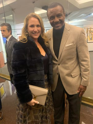 Brenda Casey and husband, Detroit Pistons coach Dwane Casey