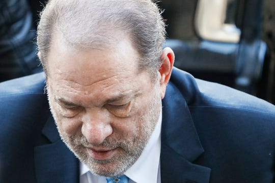 Harvey Weinstein arrives at a Manhattan courthouse for his rape trial, Monday, Feb. 24, 2020, in New York.