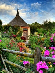 The Vanderperren Garden, a cottage garden in the Green Bay Botanical Gardens.