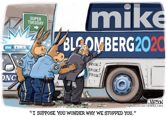 Democrats stop and frisk Bloomberg.