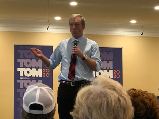 Democratic presidential nominee Tom Steyer along with State Rep. Michael Rivers, D-Beaufort, spent Monday, Feb. 24, 2020, in Beaufort County campaigning for last-minute votes before Saturday's primary election.