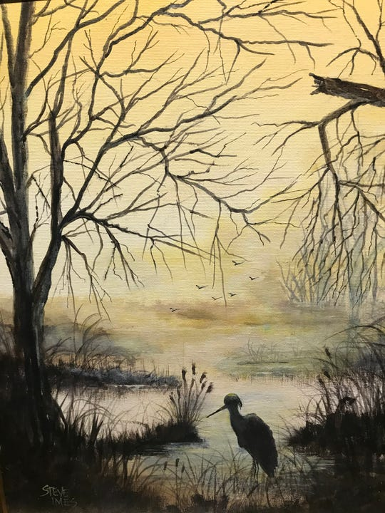 """Morning Mist"" by Steve Imes is part of the ""Peace in the Valley"" exhibit. There will be an opening reception for the joint Audubon Arts/OVAL effort Thursday evening."