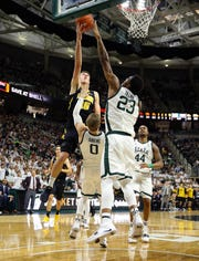 Joe Wieskamp sprained his ankle in last year's Iowa game in the Breslin Center, a 90-68 Michigan State win.
