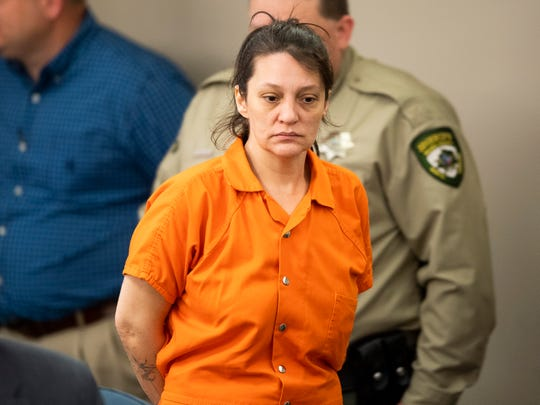 Angela Boswell appears in Wilkes County District Court in Wilkesboro, N.C., for her extradition hearing on Monday, February 24, 2020.