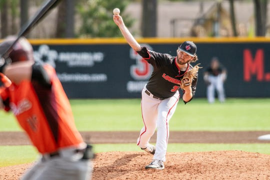 UL senior Brandon Young throws against Virginia Tech before the 2020 season was canceled by the coronavirus pandemic.