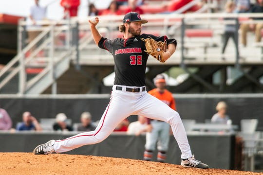 UL's Brandon Young, who has agreed to sign with the Baltimore Orioles, throws against Virginia Tech in February.