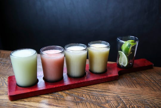 The margarita flight at Dos Gringos in Jeffersonville comes with three or four flavors.