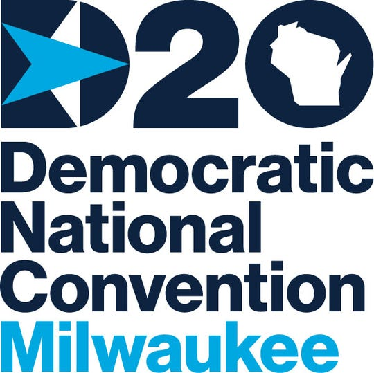 The logo for the 2020 Democratic National Convention in Milwaukee.