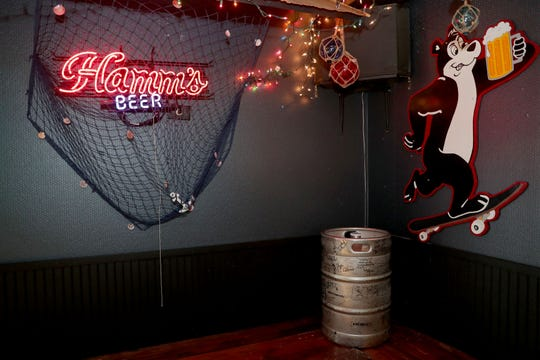 The 100th tapped keg of Hamm's beer is on display and available for customers to sign at The Mothership, a bar at 2301 S. Logan Ave. in Bay View.