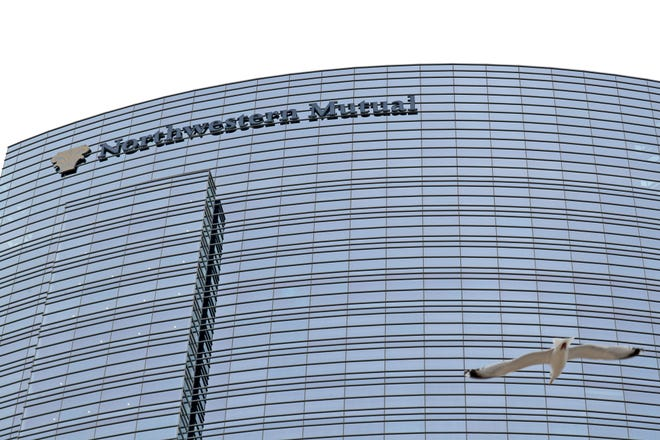 The Northwestern Mutual Life Insurance Co. Tower and Commons skyscraper in Milwaukee.