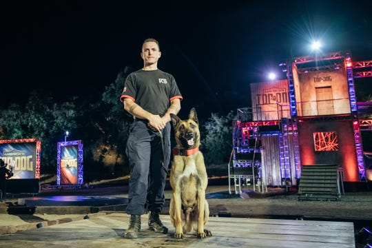 "Morris County Sheriff's Office K-9 section Detective Corporal Michael McMahon competes with partner ""Kai"" on ""America's Top Dog."""