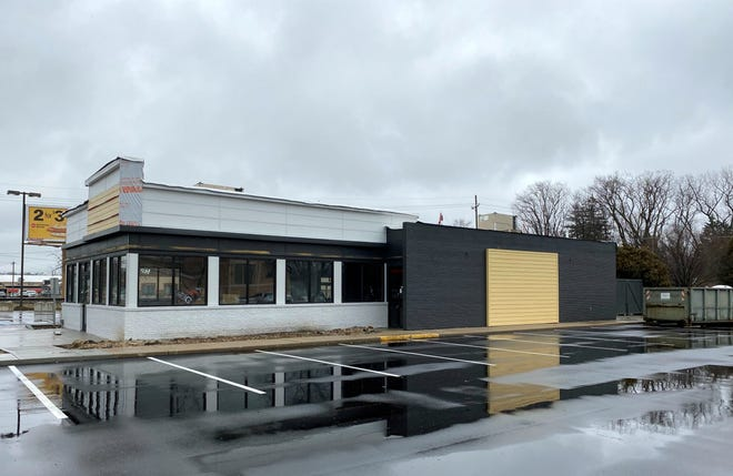 Besides a newly paved parking lot, no changes have been made to the outside of the Dunkin' location at 418 S. Tillotson Ave. since November.