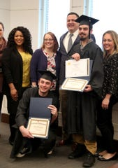 A graduation ceremony was held for Jeffery Lavender and William Blake Reyer in the Murfreesboro Day Reporting Center, on Monday, Feb. 24, 2020, at the Rutherford County Judicial Center. The program is run by the Tennessee Department of Correction.