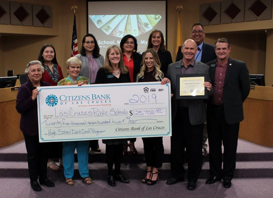 In 2019 Citizens Bank was able to donate $25,702 to the Las Cruces Public Schools and $5,436 to Hot Springs High School in Truth or Consequences.