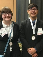 Carlsbad High School BPA students Kandle Kitchens and Christopher Olivas were elected as state officers.