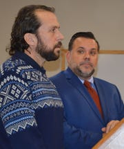 Former Lakeland High School teacher Michael Fletcher was sentenced to sobriety court Monday, Feb. 24, 2020, in 52-2 District Court in Clarkston. He stands here with his attorney Roberto Bihar.