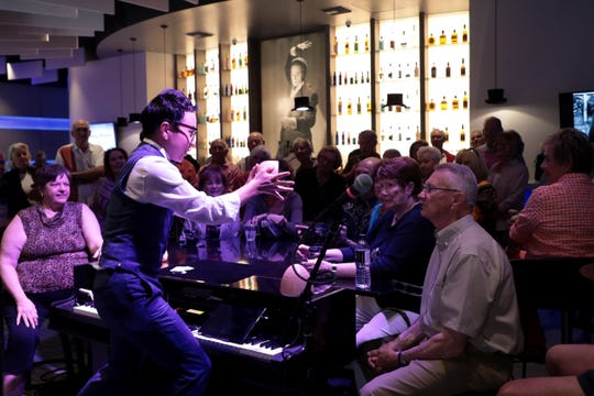 Jeki Yoo does a pre-show performance at Marvyn's Magic Theater on Sunday, Feb. 23, 2020 in La Quinta, Calif.