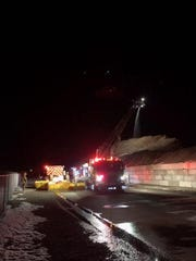 The Marlette Fire Department responded to a report of a mulch fire at Kappen Mulch shortly after 1 a.m. Sunday.