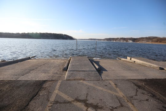 Water levels along Irondequoit Bay near the outlet are showing higher levels.  The boat launch at Irondequoit Bay boat launch is half under water on Feb. 24, 2020.