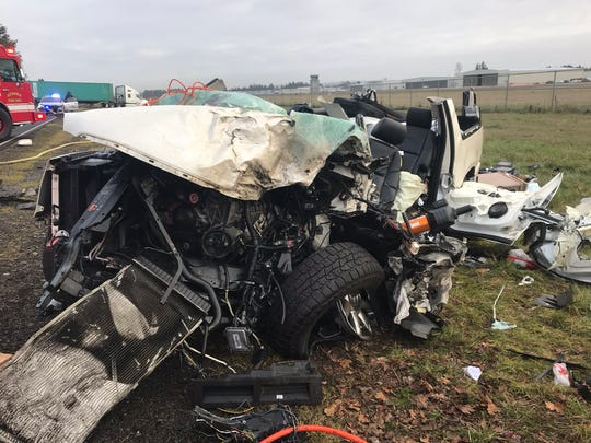 A crash involving a truck and SUV has closed Highway 551 near the Aurora airport Monday morning.