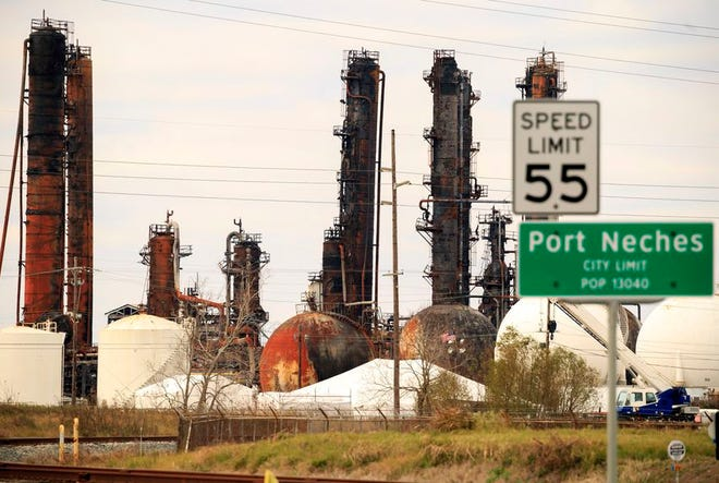 Towers and tanks were damaged in an explosion at TPC Group's Port Neches plant in late 2019.