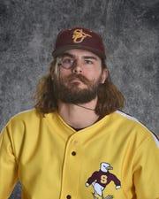 Salisbury University baseball player Justin Meekins poses for his senior head shot.