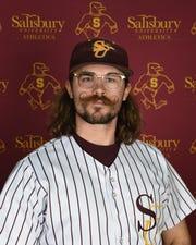 Salisbury University baseball player Justin Meekins poses for his junior head shot.