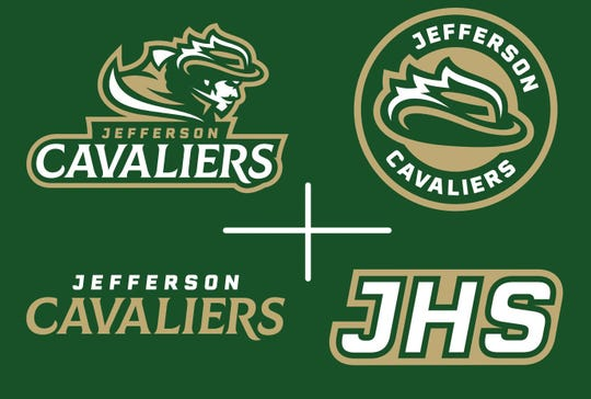 This collage shows the variety of logos that will be used by Jefferson High School in Sioux Falls.