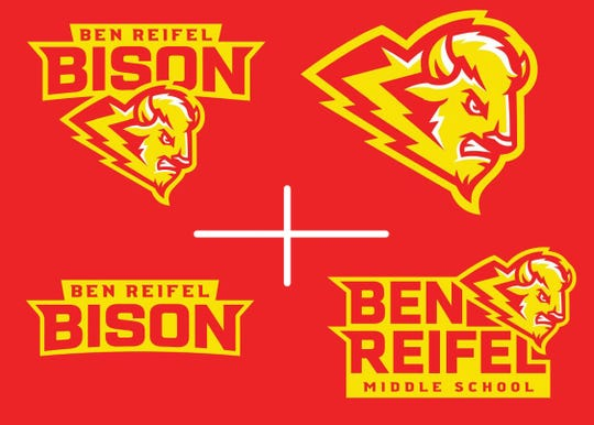 Logos for Ben Reifel Middle School in Sioux Falls.