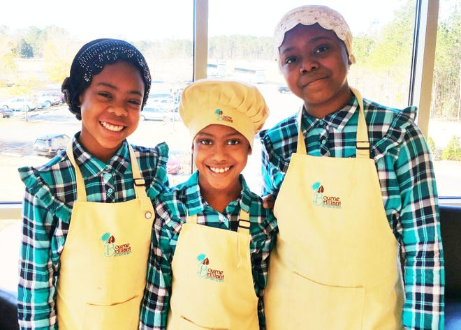 """Lyrica, 12, Zaira, 11, and Nadira, 9, are the three inspiring """"youthpreneurs"""" that make up the socially conscious enterprise, Bourne Brilliant, founded in 2013."""
