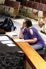 Randi Lundgren directs a rehearsal of Godby's original production about surviving middle school.