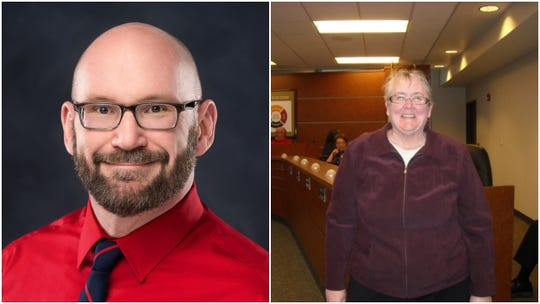 Candidates for Wausau's 11th City Council district, Patrick Bacher, left and Debra Ryan.