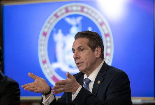 Gov. Andrew Cuomo spoke during a news conference Feb. 24, 2020, on Medicaid funding at the State Capitol.