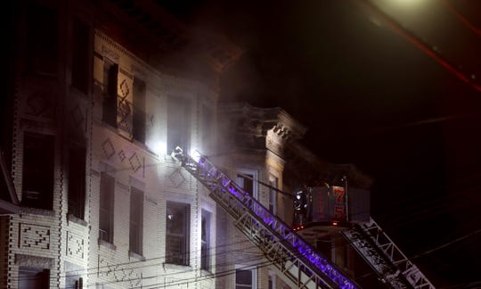 One person was killed in a four-alarm fire in an apartment building at 112 Saratoga Ave. in Yonkers Feb. 23, 2020. The Red Cross and Yonkers Office of Emergency Management were assisting at least eight families who lived in the building.