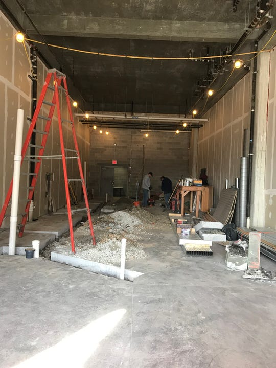 Construction is underway at the new Riverfront Bakery. The opening for the Wilmington Riverfront business is targeted for May.