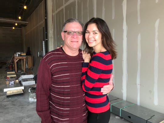 Jeff Schwarz and Margo Gorschkova stand inside their coming-soon Riverfront Bakery. The site on Justison Street at the Wilmington Riverfront is currently under construction. They're hoping to open by May.