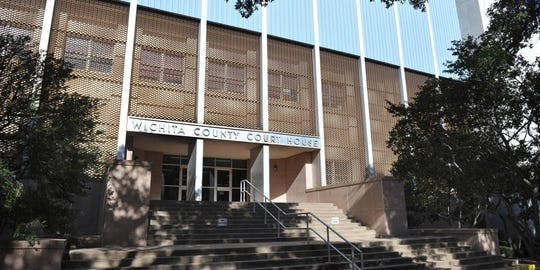 """Wichita County is seeking about $10 million to complete renovations at the courthouse and annex. Work could include removing the """"wine rack""""-style facade, replacing windows, and renovating the entrance way."""