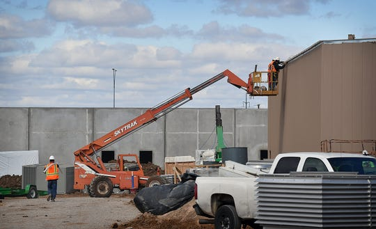 Construction continues on the Wichita County Law Enforcement Center on Central Freeway East. The multi-million dollar build is slightly behind schedule but within expectations for a project of this scale.