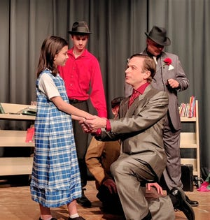 Minh Lien Scott as Matilda meets a group of Russians played by Jay Shaffstall, Thomas Hoover and Lee Hoover.