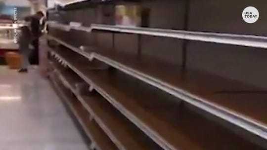 Coronavirus fears empty store shelves of toilet paper, bottled water, masks as shoppers stock up