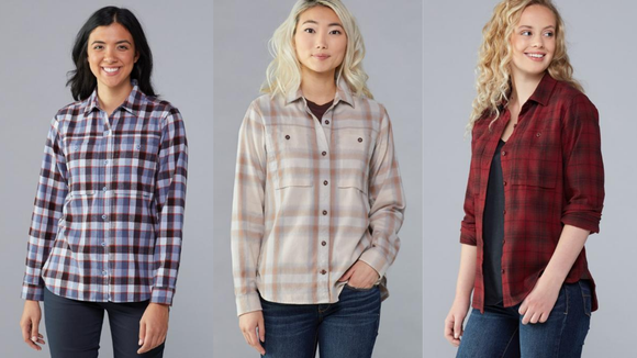 """Finally a women's flannel! I can stop """"borrowing"""" my dad's."""
