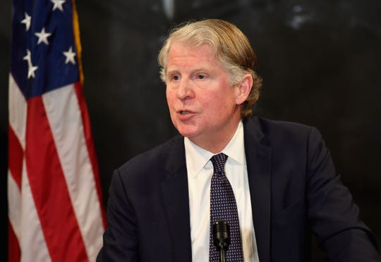 Manhattan District Attorney Cyrus Vance Jr. at press conference on Feb. 24, 2020 in New York City after the verdict in the Harvey Weinstein sex-crimes trial.