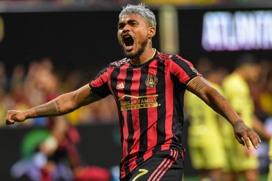 Atlanta United forward Josef Martinez scored against F.C. Motagua in the CONCACAF Champions League Round of 16.