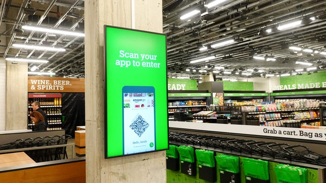 Interior of the new Amazon Go Grocery store, by Jefferson Graham