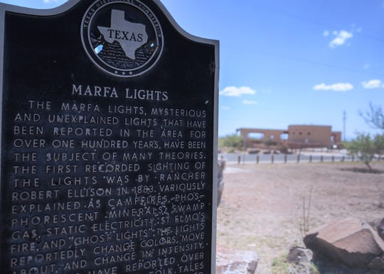 """Texas has a long history with lights seen in the sky,"""" O'Leary says, highlighting the Marfa Lights viewing area."""