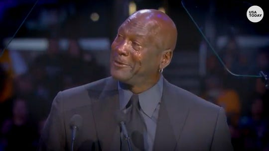 Michael Jordan prepared to become 'another crying meme' after speech at Kobe memorial