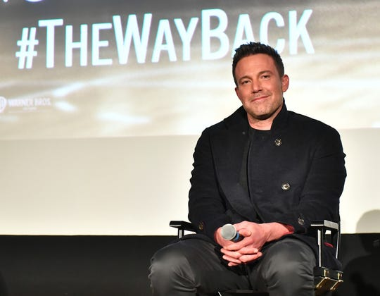 """Ben Affleck attends Q&A screening for """"The Way Back"""" at Plaza Theatre in Atlanta on Feb. 19."""