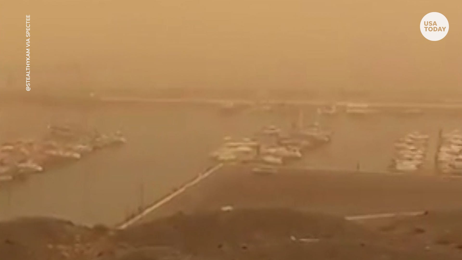 Nightmare of a weekend : Yellow haze from sandstorm fills Canary Islands  air