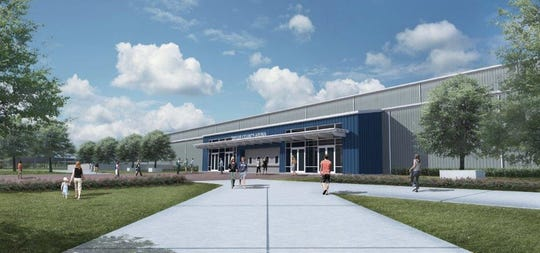 A rendering of the new multi-purpose arena at the Taylor County Expo Center, which will bear the name of Taylor Telecom.