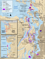 Navy map showing areas where SEALs could train